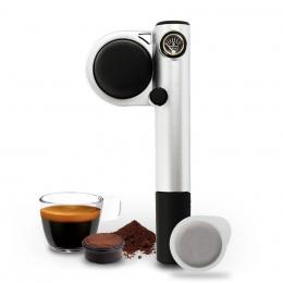 Máquina de café Handpresso Pump manual de color plateado - Handpresso