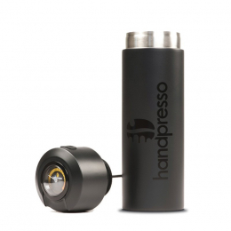 Black thermo-flask with built-in thermometer - Handpresso