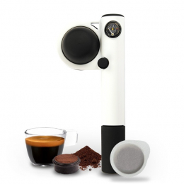 Cafetera espresso manual Handpresso Pump de color blanco - Handpresso