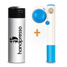 Pack Handpresso Pump Pop bleu et Thermo-Flask blanche