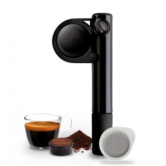Gebraucht Handpresso Pump Schwarz, manuelle Espressomaschine– Handpresso