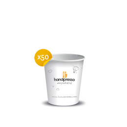 50 paper cups for Handpresso Auto and Handpresso Pump - Handpresso